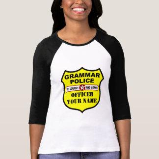 Grammar Police Customisable Tee