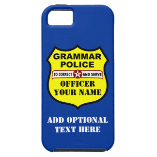 Grammar Police Customizable iPhone Case iPhone 5 Covers