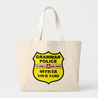 Grammar Police Customizable Tote