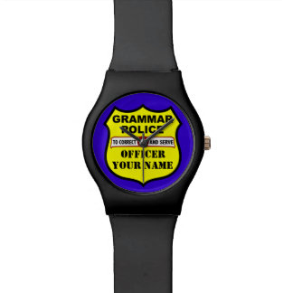 Grammar Police Customizable Watch