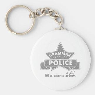 Grammar Police Key Ring