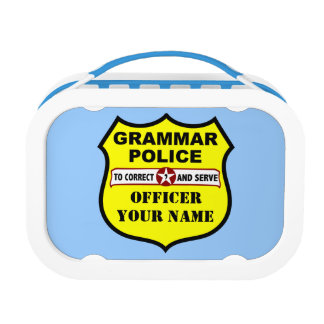Grammar Police Lunch Box