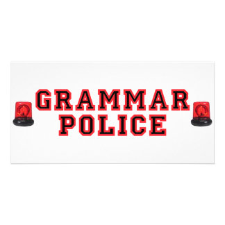 Grammar Police Personalized Photo Card