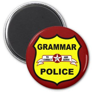 Grammar Police Round Magnet