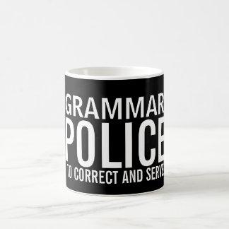 Grammar Police To Correct And Serve Coffee Mug