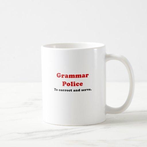 Grammar Police to Correct and Serve Mug