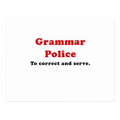 Grammar Police to Correct and Serve Postcard