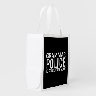 Grammar Police To Correct And Serve Market Totes
