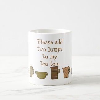 Grammar Police Two Lumps To Tea Too Mug
