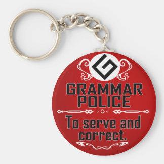 Grammar Policeman Key Ring