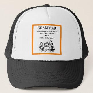 grammar trucker hat