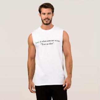 Grammatical Irony (Light) Sleeveless Shirt