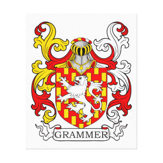 Grammer Coat of Arms II Stretched Canvas Print