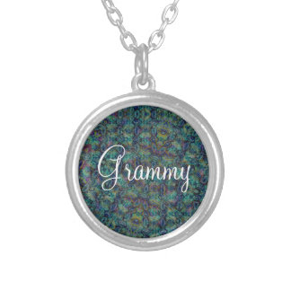 Grammy Blue Green Pattern Pendant