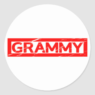 Grammy Stamp Classic Round Sticker