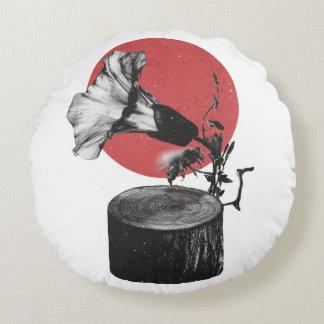 Gramophone Round Cushion