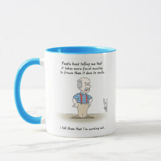 Gramps: 'On Frowning' coffee mug