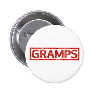 Gramps Stamp 6 Cm Round Badge