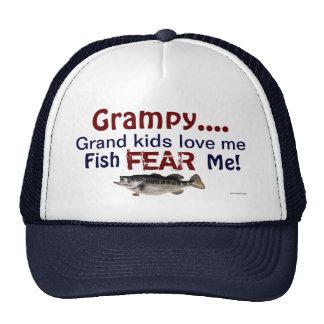 Grampy...Grand Kids Love Me Fish Fear Me Hat