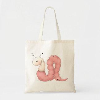 Gram's Garden · Pink Worm Tote Bag