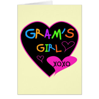 Gram's Girl Custom T-Shirts, Mugs, Buttons, Cases Card