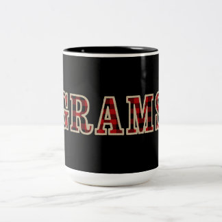 GRAMS Rustic Red Black Buffalo Checker Squares Two-Tone Coffee Mug