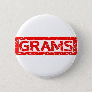 Grams Stamp 6 Cm Round Badge