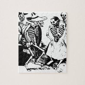 Gran-Fandango Mexican skeletons Jigsaw Puzzle
