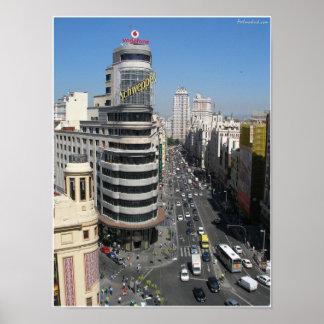 Gran Via Madrid Poster