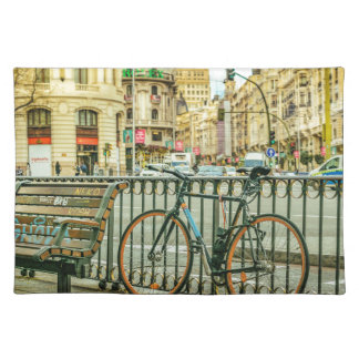 Gran Via Street, Madrid, Spain Placemat