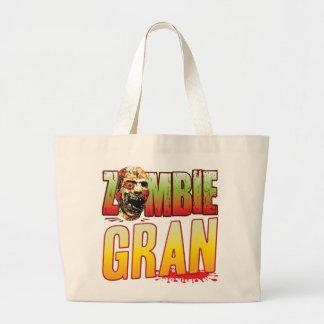 Gran Zombie Head Tote Bags