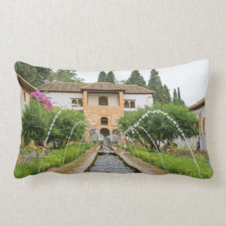 Granada. Generalife. The Court of la Acequia Lumbar Cushion