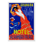 Granada Hotel Alhambra Palace Posters