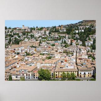 Granada. Panorama of Albaicin Poster
