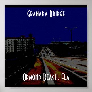 GranadaBridge, Granada Bridge, Ormond Beach, Fla Poster