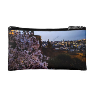 Granada's Albayzin seen from The Alhambra's almond Cosmetic Bag