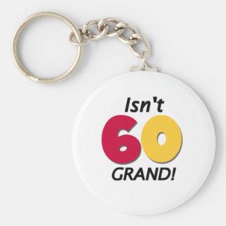 Grand 60th Birthday Key Chains