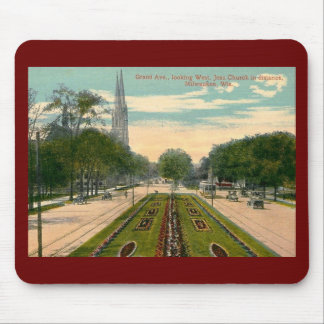 Grand Ave., Milwaukee, Wisconsin  Vintage Mouse Pad