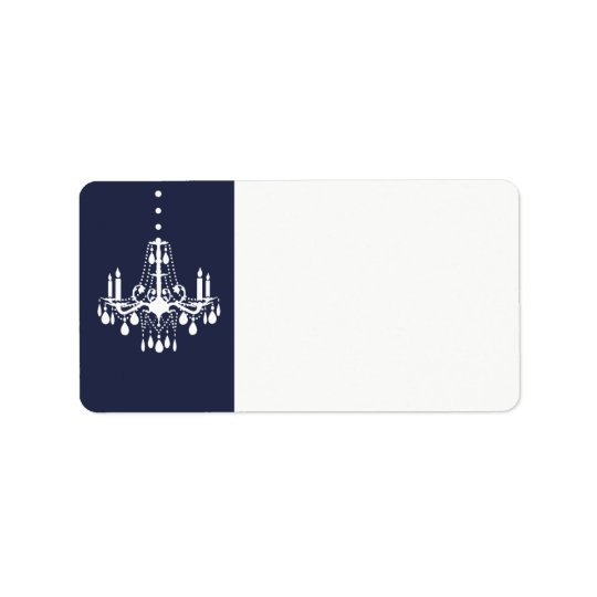 Grand Ballroom Address Label in blue