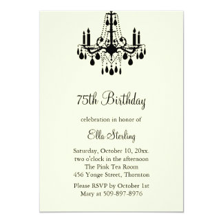 Grand Ballroom Birthday Invitation (ivory)