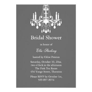Grand Ballroom Bridal Shower Invitation (gray)