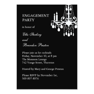 Grand Ballroom Engagement Party Invitation (black)