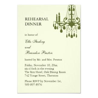 Grand Ballroom Rehearsal Dinner Invitation (green)