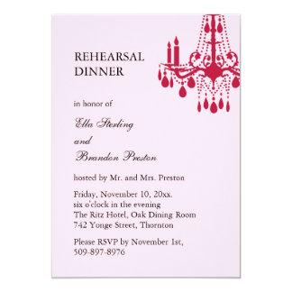 Grand Ballroom Rehearsal Dinner Invitation (red)