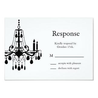 Grand Ballroom RSVP (black) 9 Cm X 13 Cm Invitation Card
