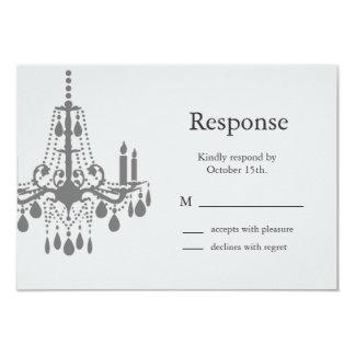 Grand Ballroom RSVP (gray) 9 Cm X 13 Cm Invitation Card