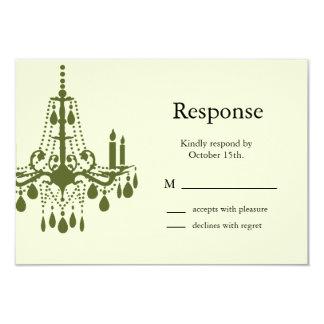 Grand Ballroom RSVP (green) 9 Cm X 13 Cm Invitation Card