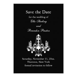 Grand Ballroom Save the Date black Announcement