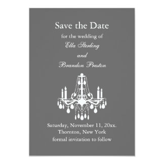 Grand Ballroom Save the Date (gray) Personalized Announcement