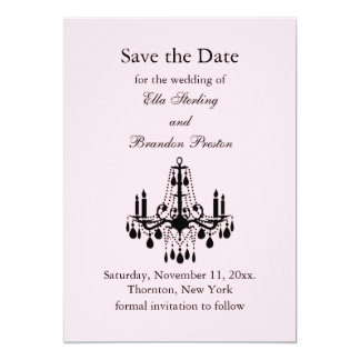Grand Ballroom Save the Date (pink) 5x7 Paper Invitation Card